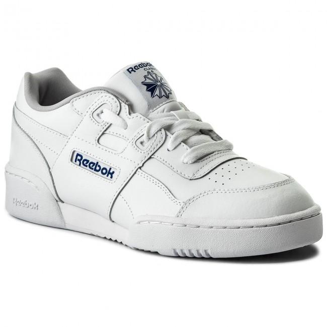 Scarpe Reebok - Workout Plus CN1826 bianca Steel Royal - scarpe da ginnastica - Scarpe basse - Donna | Del Nuovo Di Arrivo  | Maschio/Ragazze Scarpa