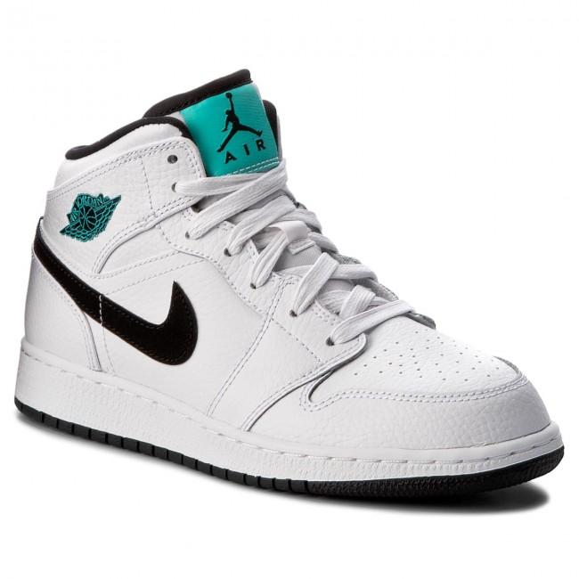 sale retailer 23bab a44e8 122 Scarpe 554725 Mid Nike Air Jordan Bg Whiteblackwhitehype