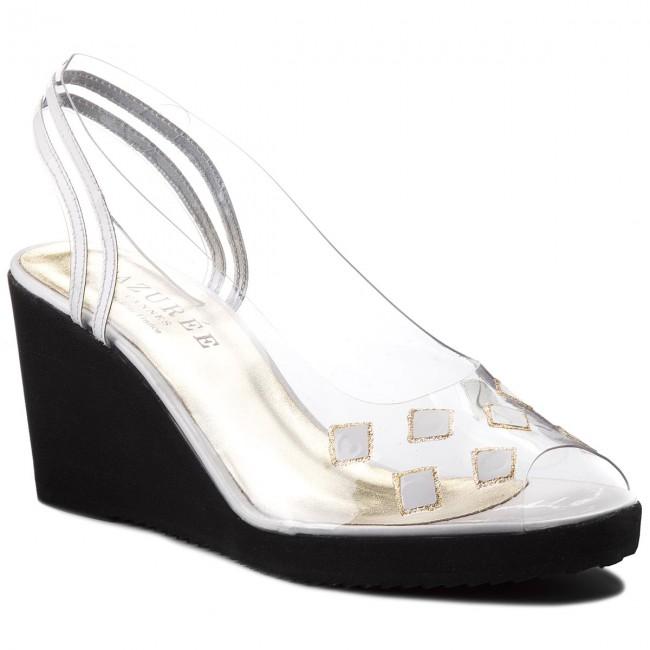 Sandali AZURÉE - Dame 8AN  Vernis bianca Glitter Or 05 - Sandali da giorno - Sandali - Ciabatte e sandali - Donna | Design professionale  | Uomo/Donna Scarpa