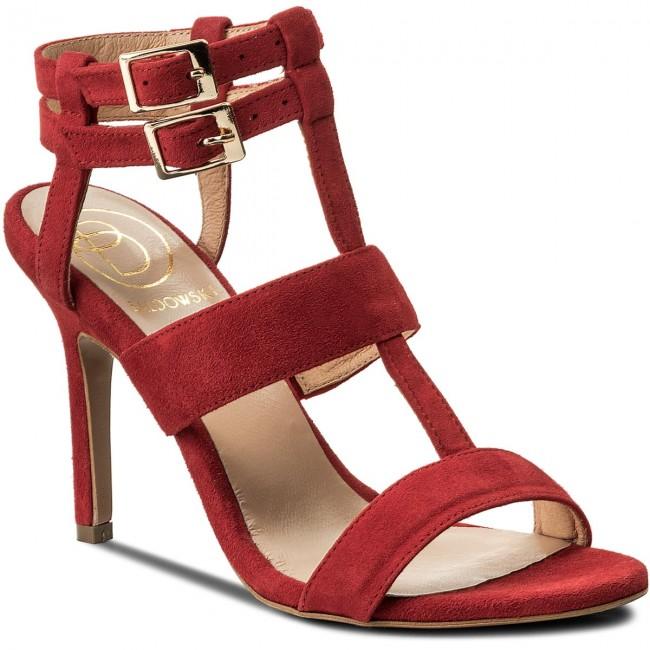 Sandali BALDOWSKI - W00353-3436-001 Zamsz Czerwony - Sandali eleganti - Sandali - Ciabatte e sandali - Donna   I più venduti in tutto il mondo    Uomini/Donna Scarpa