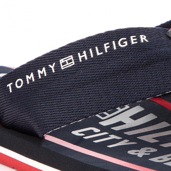 Infradito TOMMY HILFIGER - Smart Th Beach Sandal FM0FM01371 Midnight ... 8e995cb0916