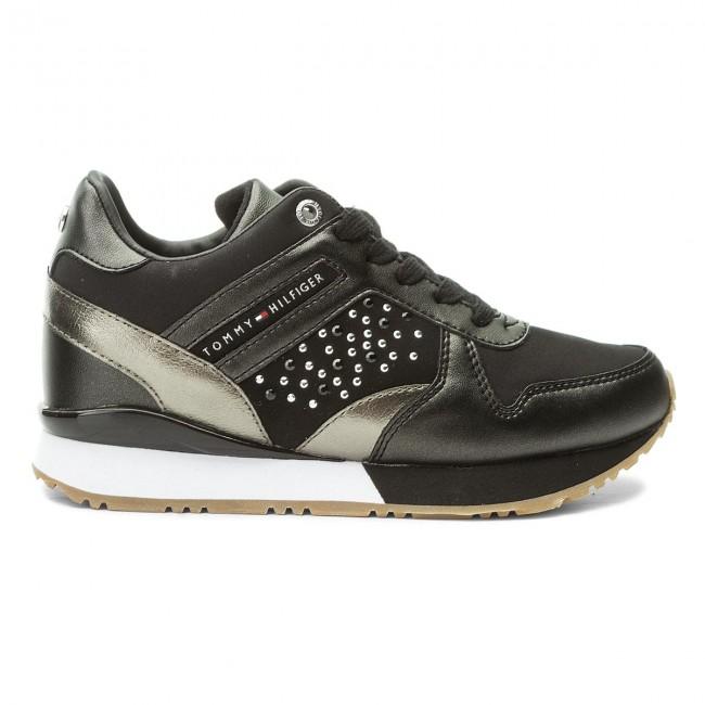 Sneakers TOMMY HILFIGER - Metallic Sneaker Wedge FW0FW02802 Black 990 -  Sneakers - Scarpe basse - Donna - www.escarpe.it f4b574ec7a