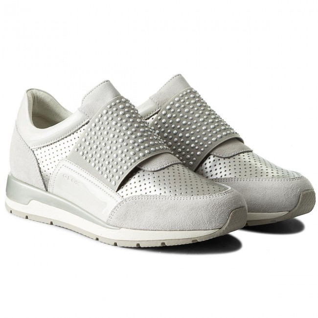 Sneakers GEOX D Shahira A D82N1A 022NF C0626 Off WhiteSilver