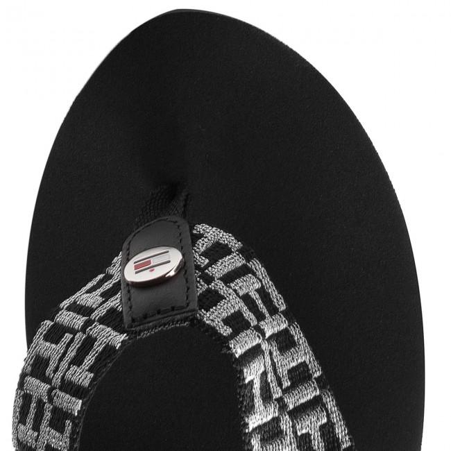 Infradito TOMMY HILFIGER Metallic Mid Beach Sandal FW0FW02363 Black 990