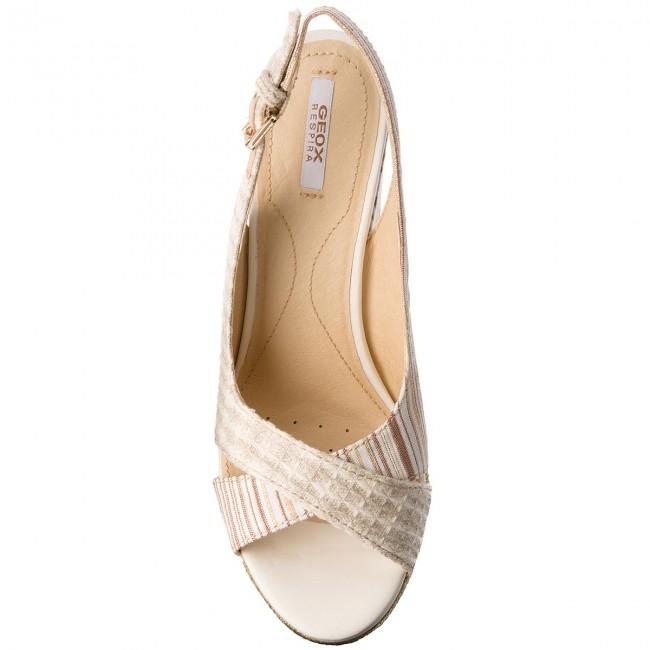 Sandali GEOX - D Janira F D82P6F 0AW11 C5555 Natural Ivory - Zeppe - Ciabatte  e sandali - Donna - www.escarpe.it 84547189bdd