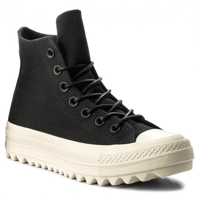 Converse Ctas Lift Ripple Hi Sneaker Donna 559856C BLACK/NATURAL