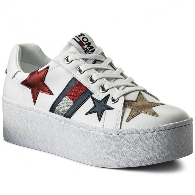 Sneakers TOMMY JEANS - Icon Sparkle Sneaker EN0EN00160 White 100 ... 83a83528852