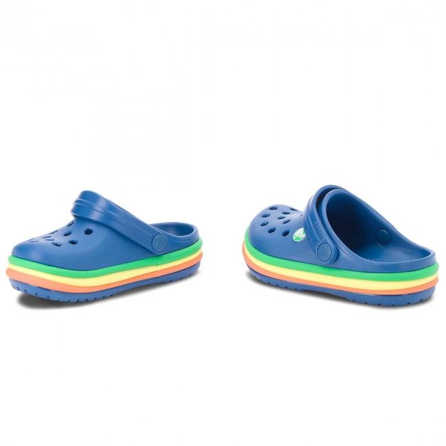 Ciabatte CROCS - Cb Rainbow Band Clog K 205205 blu Jean Nuevo Estilo nxN7XpG
