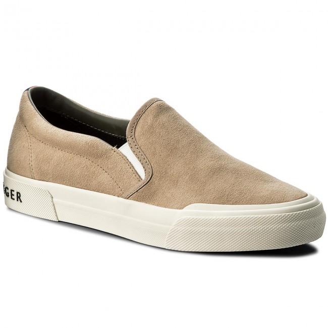 Scarpe sportive TOMMY HILFIGER - Heritage Suede Slip On Sneaker FM0FM01355 Sand  102 3def8ea2562