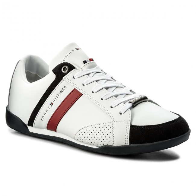 Sneakers TOMMY HILFIGER - Corporate Material Mix Cupsole FM0FM01532 White  100 39dc67925bf