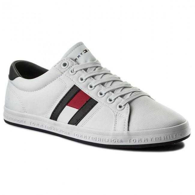 Scarpe sportive TOMMY HILFIGER - Essential Flag Detail Sneaker FM0FM01535 White  100 8354fe19ccd