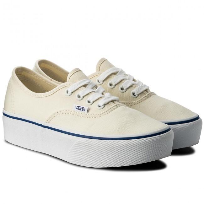 Scarpe sportive VANS - Authentic Platform VN0A3AV8JTT (Canvas) Classic White  Tr - Scarpe da ginnastica - Scarpe basse - Donna - www.escarpe.it adabe47957d