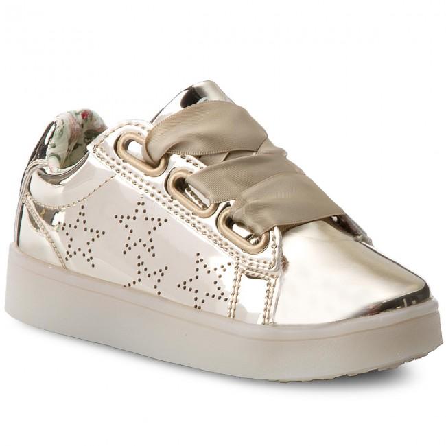 a0b0bfc74e Sneakers PRIMIGI - 1455322 Oro - Stringate - Scarpe basse - Bambina ...