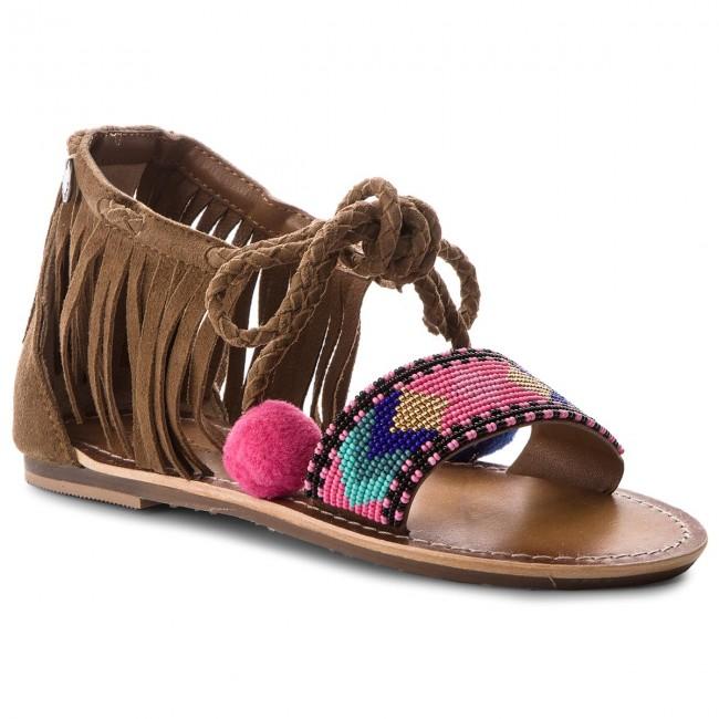 Sandali PEPE JEANS - Maya Fringes PGS90102 Mud 865 - Sandali da giorno - Sandali - Ciabatte e sandali - Donna   Trendy    Scolaro/Signora Scarpa