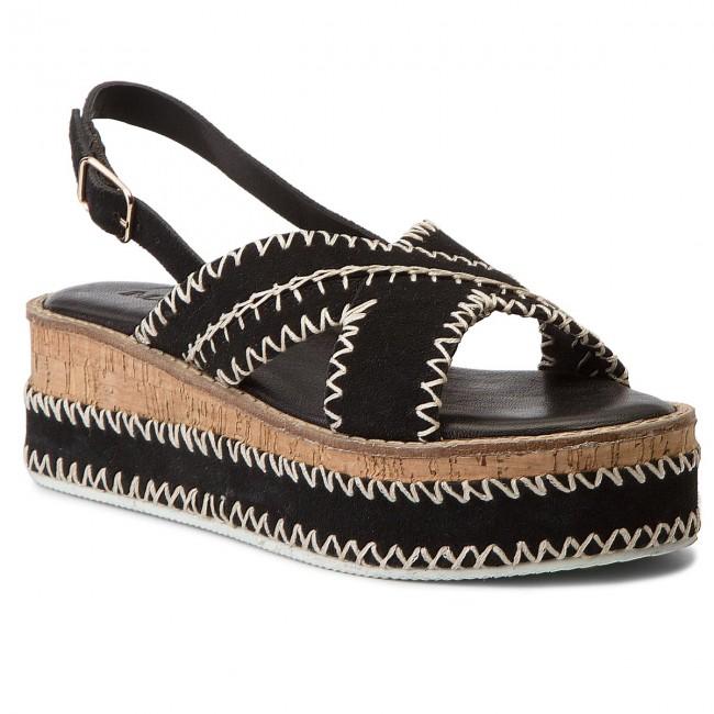 Sandali INUOVO - 8160 nero - Zeppe - Ciabatte e sandali - Donna | Modalità moderna  | Scolaro/Signora Scarpa