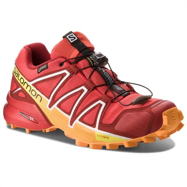 Salomon Speedcross 4 GTX, Scarpe da Trail Running Uomo, Rosso (Fiery Red/Red Dalhia/Bright Marigol 000), 44 EU