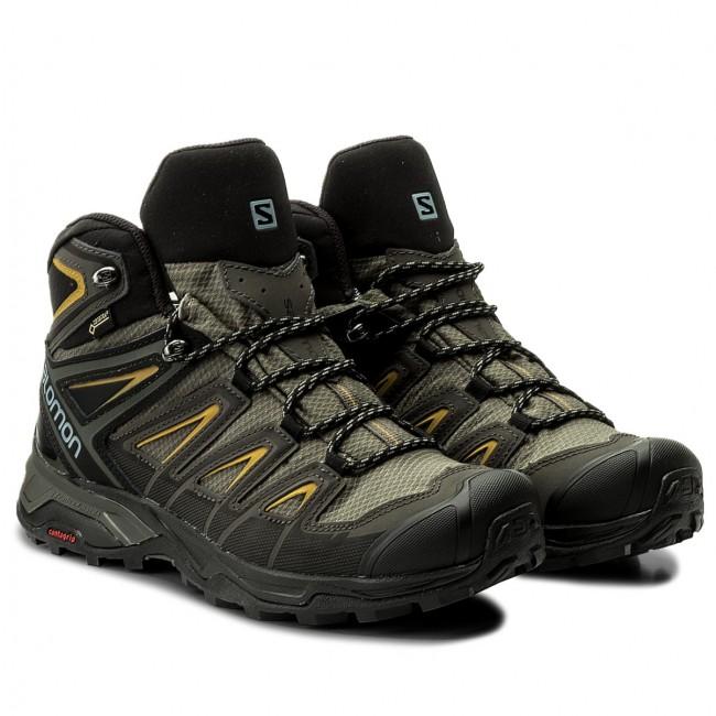 Scarpe da trekking SALOMON X Ultra 3 Mid Gtx GORE TEX 401337 28 W0 Castor GrayGreen Sulphur