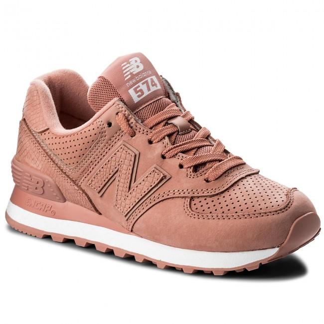 New Balance WL574URT WL574URT rosa scarpe basse