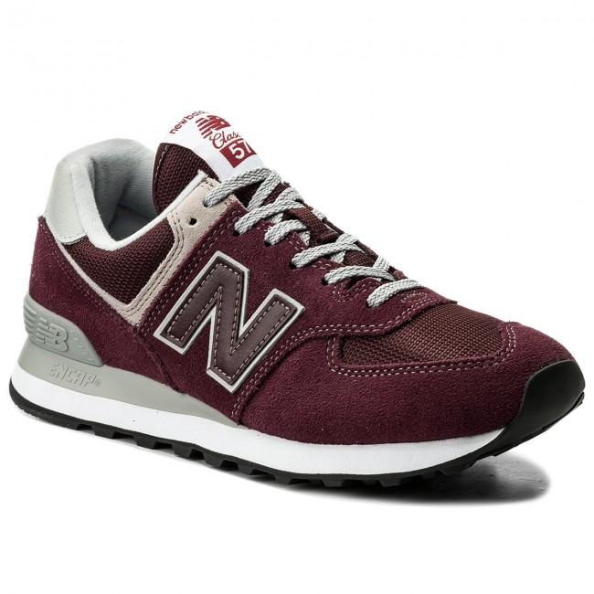Sneakers NEW BALANCE - ML574EGB Bordeaux - Sneakers - Scarpe basse ... 9ddbdaca3d1