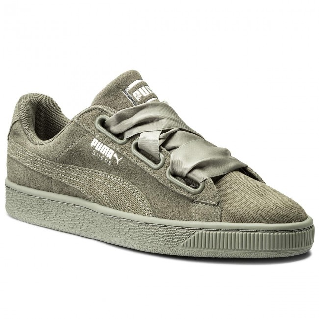 Puma Suede Heart Pebble Wn's Sneaker Donna 365210 02 Rock Ridge Rock Ridge