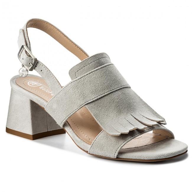Para Pre Descuento Sandali SOLO FEMME - 80807-13-G15/000-07 escarpe grigio Tacco La Venta De La Fábrica Con Mastercard Para La Venta K8XUALZnwv