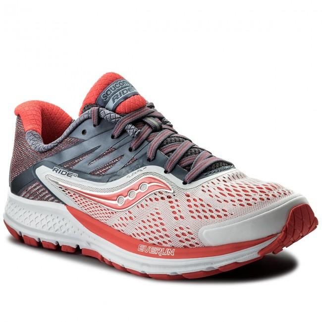 Scarpe SAUCONY - Ride 10 S10373-8 Wht Fog Viz rosso - Scarpe da allenamento - Running - Scarpe sportive - Donna   nuovo venuto    Uomo/Donna Scarpa