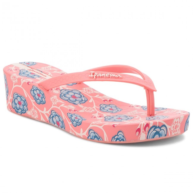 340a4abc24a16 Infradito IPANEMA - Floral Plat Fem 82284 Pink Pink Blue 21444 ...