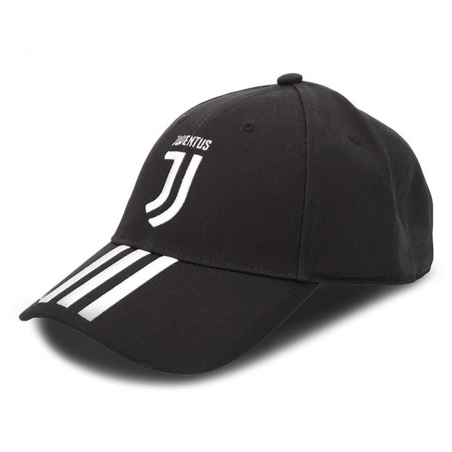Cappello con visiera adidas - Juve 3S Cap CY5558 Black White - Uomo ... d4eda4f3bb4f