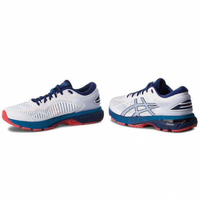 Scarpe ASICS - Gel-Kayano 25 1011A019 White Blue Print 100 - Scarpe ... b55073c463c
