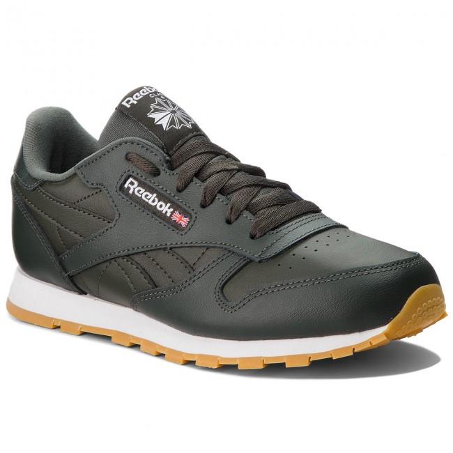 Reebok Leather Scarpe Classic Cn5613 Dark Cypresswhite Sneakers Qrthsd