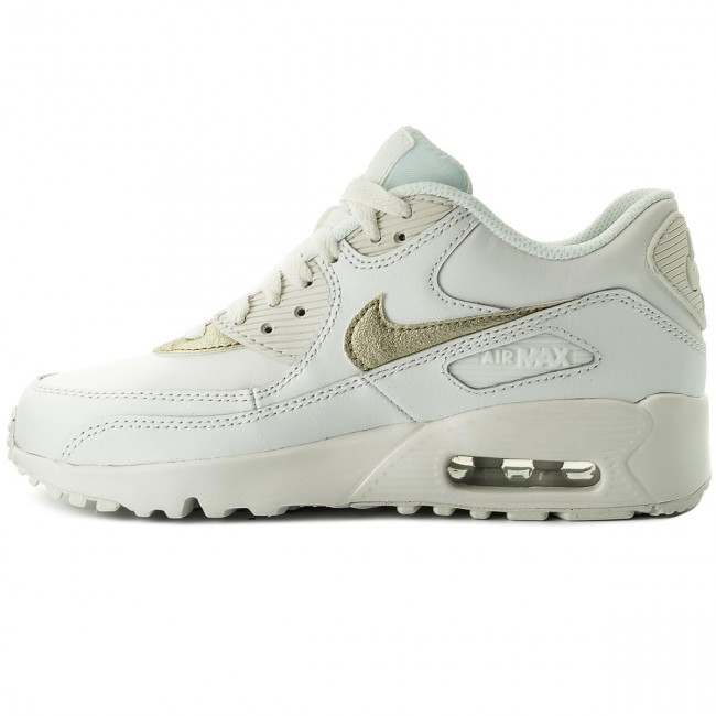 Scarpe NIKE Air Max 90 Ltr (GS) 833376 103 Summit WhiteMtlc Gold Star