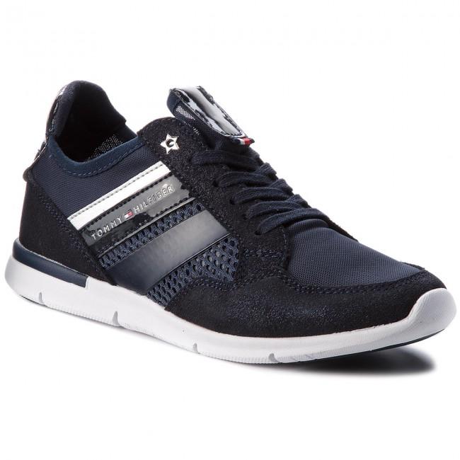 scarpe da ginnastica TOMMY HILFIGER - Metallic Light Weight scarpe da ginnastica FW0FW02996 Midnight 403 - scarpe da ginnastica - Scarpe basse - Donna   Grande Varietà    Sig/Sig Ra Scarpa