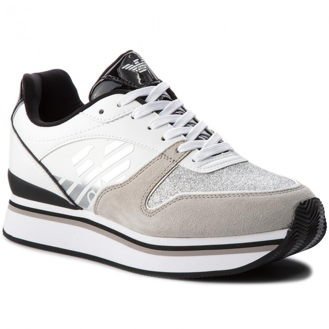 Sneakers EMPORIO ARMANI - X3X046 XL214 F007 Plaster White - Sneakers ... fed4b62409d