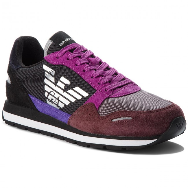 Sneakers EMPORIO ARMANI - X3X058 XL481 A189 Wine Ash - Sneakers ... 613d3202a3a