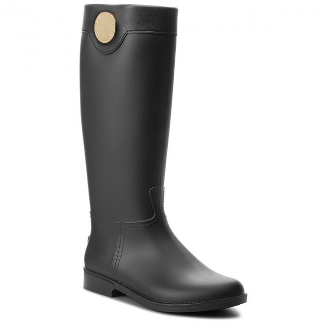 Wellington EMPORIO ARMANI - X3O172 XL536 K001 Black Black - Stivali ... 841c52e15c0