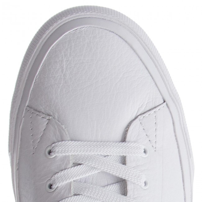 Sneakers TOMMY HILFIGER Unlined Mid Cut Leather Sneaker FM0FM01626 White 100