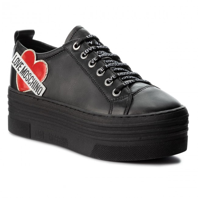 Sneakers LOVE MOSCHINO - JA15056G16IB0000 Nero - Sneakers - Scarpe ... 5e529c2a771