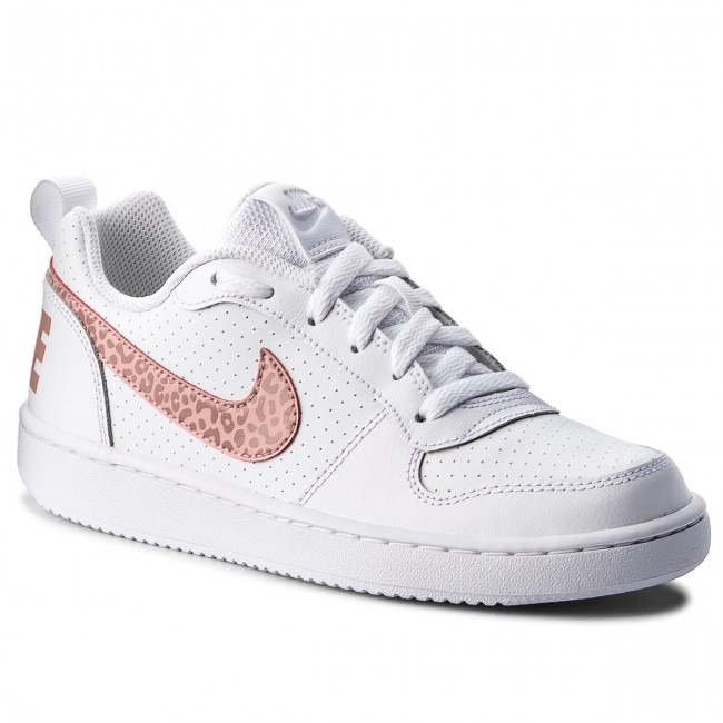 Scarpe NIKE Court Borough Low (GS) 845104 845104 845104 101 bianca Rust rosa   9b7c0f