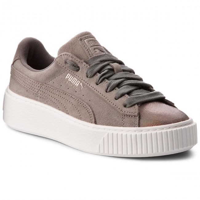 purchase cheap d390c eb3e3 Sneakers PUMA - Suede Platform LunaLux 366111 01 Smoked Pearl ...