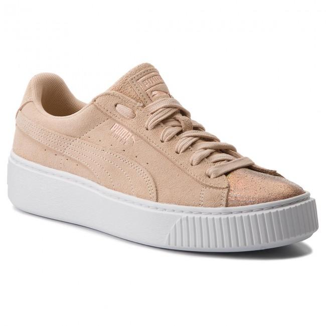 Cream Lunalux Tan Platform 366111 Puma 02 Sneakers Suede OX8Pnw0k