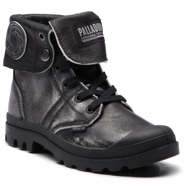 Scarponcini PALLADIUM - Pallabrouse Baggy L2 93080-091-M argento nero - Scarpe da trekking e scarponcini - Stivali e altri - Donna | moderno  | Scolaro/Signora Scarpa