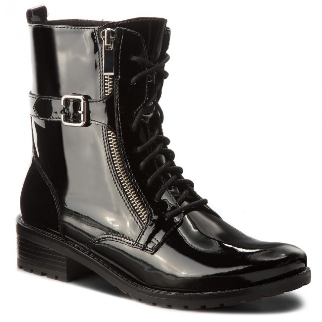 Tronchetti CAPRICE - 9-25100-21 nero Patent 018 - Tronchetti - Stivali e altri - Donna | Il Prezzo Ragionevole  | Scolaro/Signora Scarpa