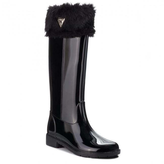 Wellington GUESS - FLRBE3 RUB11 nero nero nero - Stivali da pioggia - Stivali e altri - Donna | Tatto Comodo  | Uomini/Donna Scarpa  9ed804