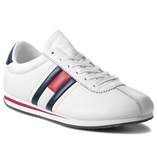 Retro 100 Tommy Sneakers Flag Sneaker Jeans Em0em00182 White AvOnq