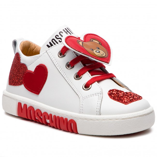 Sneakers MOSCHINO - 26224 M Bianco - Stringate - Scarpe basse ... e11cbff6aa2