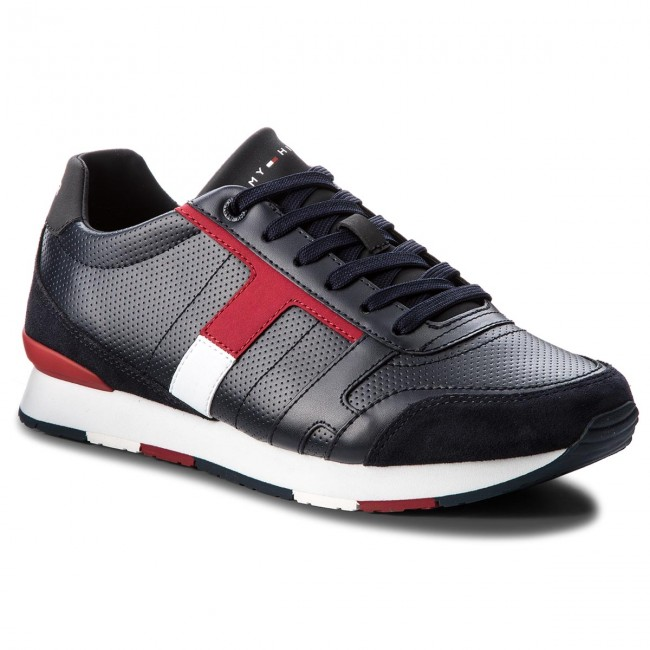 Sneakers TOMMY HILFIGER - Corporate Leather Mix Sneaker FM0FM01899 Midnight  403 392f5d625c9