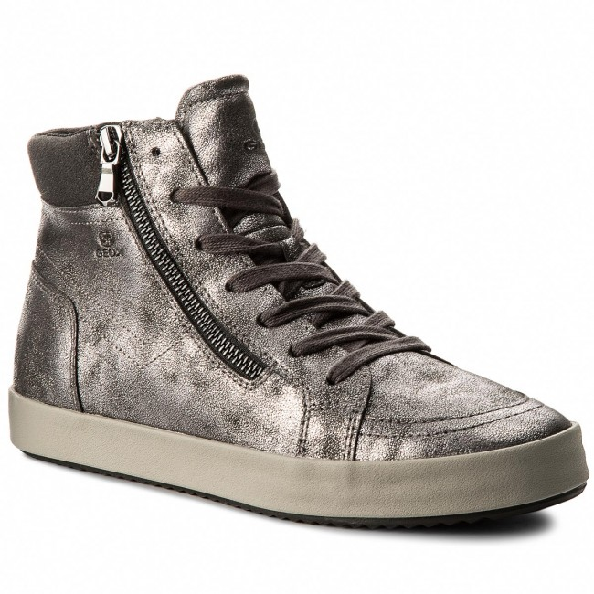 Sneakers GEOX - D Blomiee A D826HA 0PVAF C9004 Anthracite - Sneakers ... 93face11fee