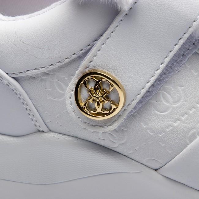 FLJIA4 basse Sneakers Sneakers FAL12 WHITE GUESS Scarpe 7xw5q8BFq