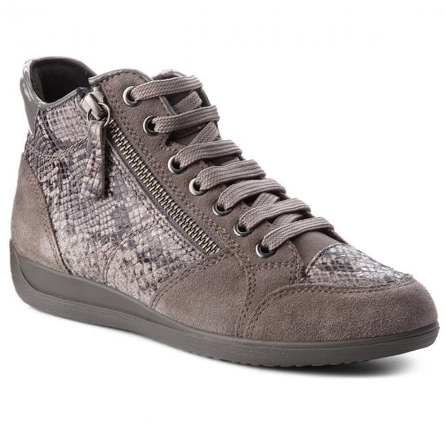 0e15d4af059fd Sneakers GEOX - D Myria C D6468C 04122 C9002 Dk Grey - Sneakers ...