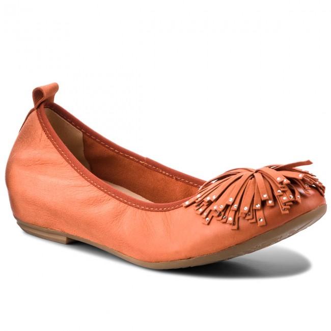 Scarpe basse CAPRICE - 9-22121-20 arancia Nubuc 609 - Con tacco a zeppa - Scarpe basse - Donna | Imballaggio elegante e stabile  | Maschio/Ragazze Scarpa